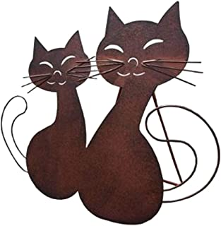 MIYU Lovely Couple Cat Garden Statue Figurine - Best Art Décor For Indoor Outdoor Home Or Office