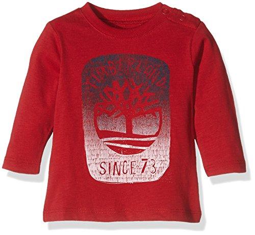 Timberland T95787 Long Sleeve T-Shirt, Polo Bébé Garçon, Multicolore (Crimson), 0-6 mois