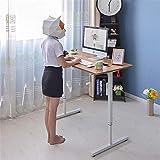 Escritorio de computadora Mesa de computadora Escritorio de Oficina de pie Ajuste Manual de elevación para Estudio en casa para Espacios pequeños