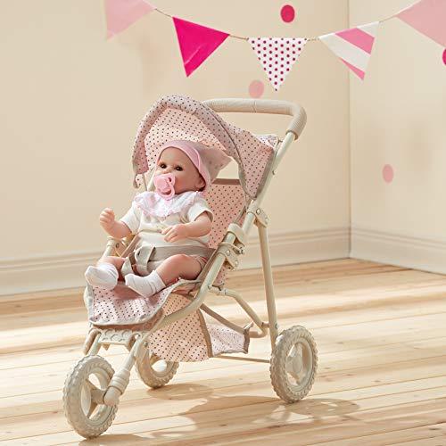 Olivia's Little World Dolls Pram Stroller Pushchair For Baby Dolls Toy Pram With Storage UK-OL-00002