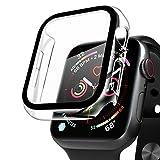 Compatible con Apple Watch 40mm Serie 6/SE/5/4 Funda+Cristal Templado, Qianyou PC Case y Vidrio Protector de Pantalla Integrados, Slim Cover de Bumper y Protector Pantalla (Transparente)