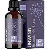 Unwind Aromatherapy Essential Oils Blend - Relaxing Essential Oil Blends for Diffuser and Humidifiers with Invigorating Bergamot Patchouli and Citrus Essential Oils for Anxiety and Stress Support