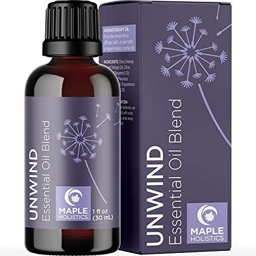 Unwind Aromatherapy Essential Oils Blend - Relaxing...
