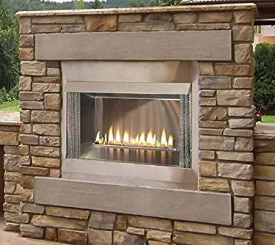 "Empire Comfort Systems Outdoor Premium 36 SS Firebox, 24"" Logset and Harmony MV Burners, NG"