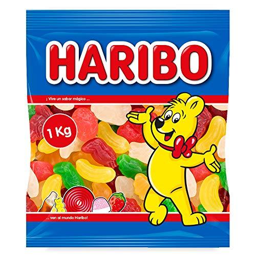 HARIBO - Frutas Tropicales Super, Caramelos de Goma, Surtido, 1 g