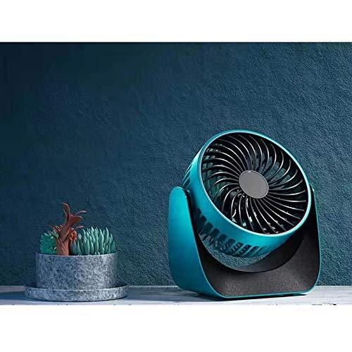 Ventilador de Mesa,Ventilador USB,viento fuerte y silencioso,portátil de 3 engranajes,giratorio de 360 °,adecuado para oficina en casa,dormitorio,escritorio y computadora de escritorio (azul oscuro)
