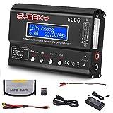 EYESKY LiPo Charger 1S-6S Digital Battery Balance Discharger 80W 6A for Li-ion Life NiCd NiMH LiHV PB Smart Battery