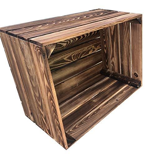 Ecobox Vintage Deko B 1 - Caja de fruta flameada, caja de vino de madera, ideal...