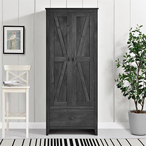Ameriwood Home Farmington Wide Storage Cabinet, 30, Rustic Gray