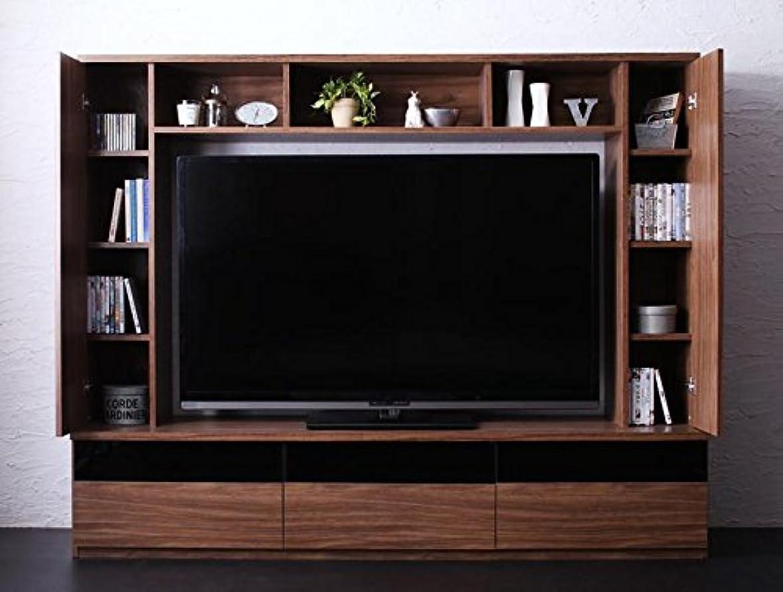 奪う潜在的な信念高級感あふれるテレビボード 60V型可 DVD246枚収納可 ウォルナット柄 配線穴付【幅200×奥行45×高さ160cm】