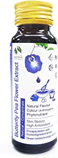 Standardized Plant Extract Natural Asian Gourmet Beverage or Bakery Ingredient, Natural Flavor, Natural Color Anthocyanin of Butterfly Pea Flower Extract Liquid Concentrate (60g)