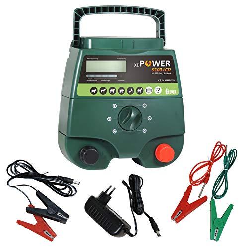 Weidezaungerät Eider XE Power 9100, 12V & 230V Kombigerät, wahnsinnige 12.000V bei 6,00 Joule