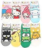 Womens Sanrio Characters Cartoon Novelty Socks (Juicy Pang Pang 8 Pairs)