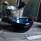 GYYCY Reisschüssel Keramikplatte Lotusblatt Platte Blaue Glasur Blauer Ofen EIS