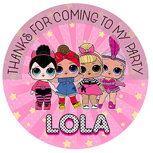 "Personalised LOL Doll 50mm 2"" Party Stickers Thank You Labels,Thank You for Coming to My Party Labels DS1 (15)"