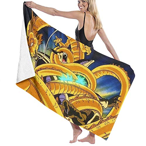 D_ragon-Ball Toallas de baño de secado rápido, extra grandes, para mujeres/hombres/niños playa/natación/senderismo/camping toalla