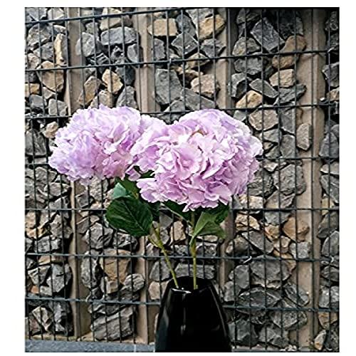YYHMKB 2 Künstliche Hortensie Blumen Dekoration Lila Tischdekoration Blumen Ostern