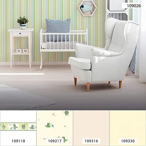 Grün gestreifte Esprit Tapete 1090-26 | Lindgrüne Tapete Streifen 109026 | gestreifte Vliestapete für Kinderzimmer, Jugendzimmer! | Jetzt kaufen!