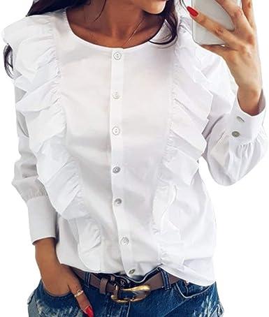 Blusas Elegante Moda Solo Mujer Primavera Un Tops Pecho Mode ...