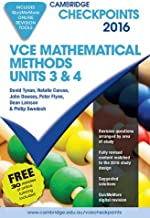 Cambridge Checkpoints VCE Mathematical Methods Units 3 and 4 2016 and Quiz Me More