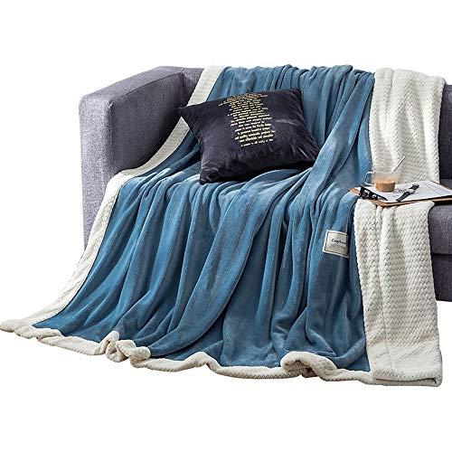 Warm dick Wirft Decke Doppelbett Größe Flanell Schlafsofa Große weiche warme Decke (blau) / S/M/L (Size : 180 * 200cm)