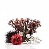 OASE biOrb Decor Set 15L Red Forest – Decoración de Acuario de Varias Piezas, Juego Completo con Accesorios subacuáticos, Accesorios para Acuario, en Rojo y Blanco