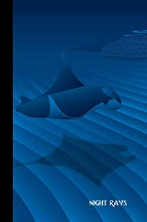 Night Rays: small lined Manta Ray Notebook / Travel Journal to write in (6'' x 9'') 120 pages