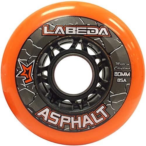 Labeda Felgen Inline Roller Hockey-Gripper Asphalt orange 80mm, 85A.