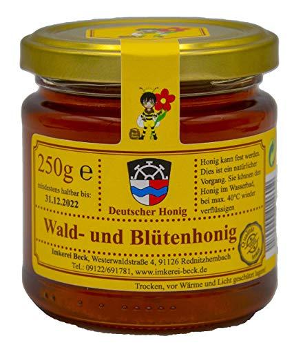 ImkereiBeck® Echter Deutscher Imkerhonig - Honig vom Imker aus Bayern (250g Waldblütenhonig)