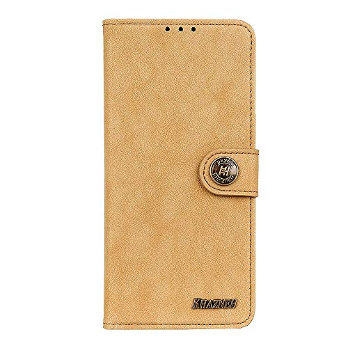 Leather Flip Case Fit for iPhone Xs, Extra-Protective Card Holders Kickstand Yellow Wallet Cover for iPhone Xs