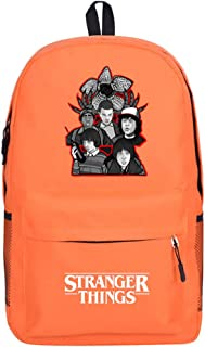 Stranger Things Mochila Niña,Mochila Stranger Things Escolar Eleven,3D Stranger Things Bolsas Escolares Bolsa para Mujer Hombres Portátil Backpack Adolescentes Casual Hombro Mochila (orange)