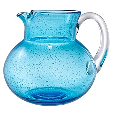 Artland Iris Pitcher, 90 oz, Turquoise/Aqua