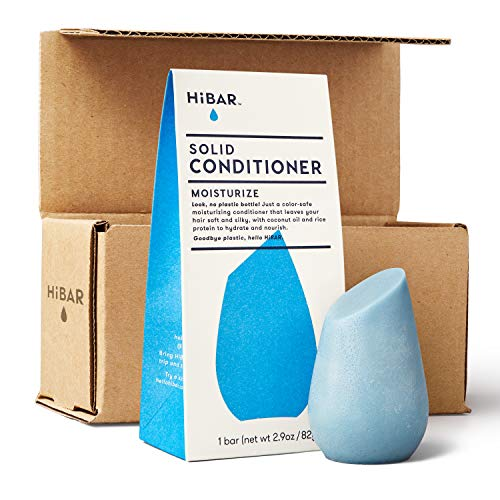 HiBAR conditioner bar with zero waste packaging and shipping. MOISTURIZE for dry or damaged hair. Eco-friendly, all natural, and plastic free.