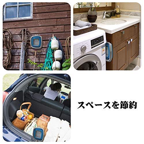 TOSSOW折りたたみバケツシリコン釣り用バケツコンパクト収納耐熱釣り洗車キッチン10L