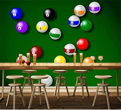 XZCWWH Custom 3D Photo Wallpaper Mural A8 Billiard Green Background Movement Room Hd Photo Ktv Hotel Mural Wallpaper Sticker,90Cm(W)×50Cm(H)