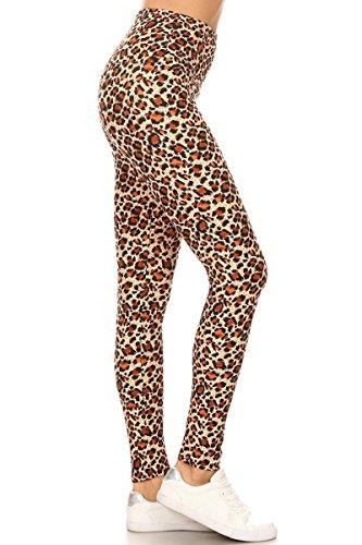 Leggings Depot REG/Plus Women's Buttery Soft High Waisted Print Leggings