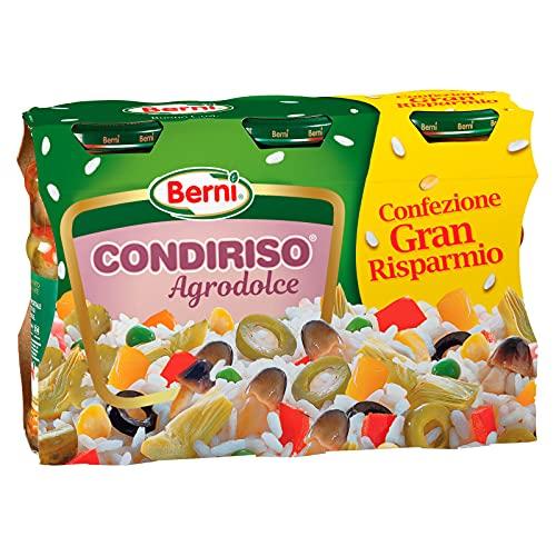 Berni Condiriso Agrodolce Conserva Condimento per Riso Freddo e Insalate - 3 Vasetti da 300g