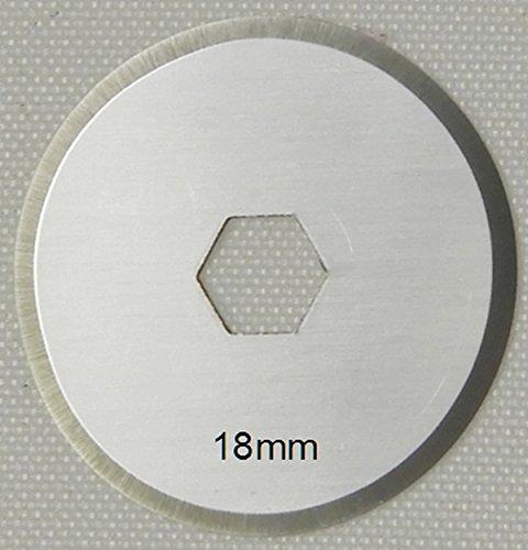 Patchwork-Pro Ersatzklingen 10x Klingen 18mm Marke, Japanischer Klingen-Stahl für Rollschneider Rollmesser Rotary Blade Patchwork Quilt