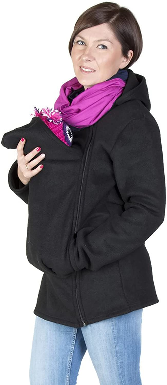 FUN2BEMUM Baby Carrier Cover Babywearing Polar Fleece Jacket Hoodie Black NP12