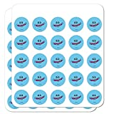 Rick and Morty Mr. Meeseeks Face 1' Planner Calendar Scrapbooking Crafting Clear Stickers