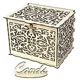 SFFSMD Hucha de Madera Tarjeta de Regalo de Boda de la Nueva DIY Caja con la decoración de la Fiesta de cumpleaños de Bloqueo Hermosa Boda Suministros (Color : 01, Talla : 300 X 240 X 225mm)