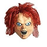 Emorias 1 Pcs Máscaras de Halloween Esqueleto Látex de Caucho Horror Cabeza Humana de Fiesta Careta - Amarillo Muñeca