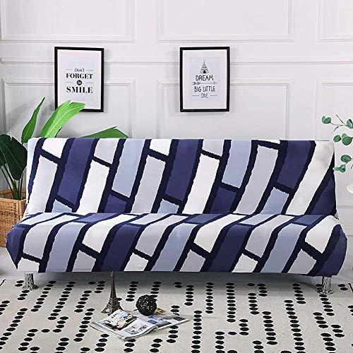 GWFVA Moderne armloze plooien enkele spandex elastische bank enkele cover futon cover, voor thuis, kantoor decor