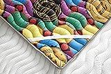 ECO-DE Topper Viscoelástico Renueva colchón Tourmalina 4D 150x200 - Disponible en Todas Las Medidas