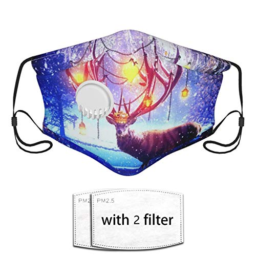 Face Bandana Mouth Cover - Christmas Deer Neck Gaiter Breathable Balaclava - Reusable For Man, Woman, Outdoor