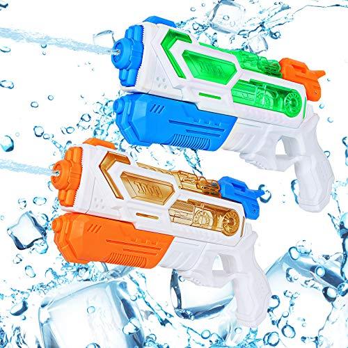 Auney Pistolas de Agua para Niños, Pistola de Agua de Juguete para niñas de niños, 2 Pack Water Gun Squirt Toy Guns