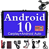 Android 10 Radio de Coche de 9 Pulgadas Pantalla táctil capacitiva HD GPS navegación Bluetooth USB Pip Dab+ OBD2 ROM 2G RAM 32G ROM para VW Passat Golf MK5 MK6 Jetta T5 EOS Polo Touran Seat Sharan