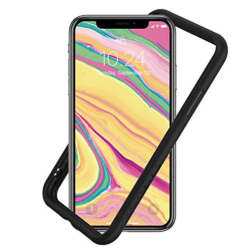 RhinoShield Bumper Case Compatible with [iPhone XS/iPhone X] | CrashGuard NX - Shock Absorbent Slim Design Protective Cover [3.5M / 11ft Drop Protection] - Black