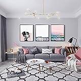 Decoración moderna del paisaje Pintura El mar Figura de moda simple Fondo de la habitación Pintura c...
