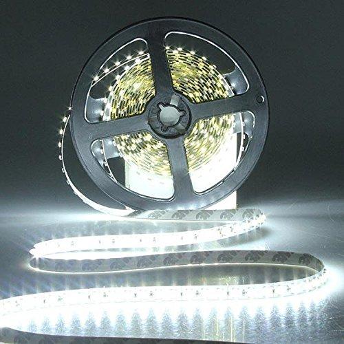 LICHONGUI 5m 3528 SMD LED Flexibler Streifen Auto Licht Nicht wasserdicht (Color : White)